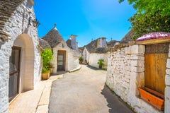 Trulli of Alberobello typical houses. Apulia, Italy. royalty free stock image