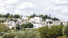 Trulli Alberobello, UNESCO światowego dziedzictwa miejsce zdjęcie stock