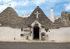 Trulli Alberobello, UNESCO światowego dziedzictwa miejsce obraz stock