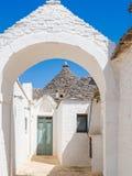 Trulli of Alberobello, UNESCO heritage, Puglia, Italy.  royalty free stock photos