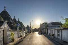 Trulli of Alberobello. View of Trulli houses .The traditional Trulli houses in Alberobello city, Puglia, Italy - Immagine stock images
