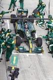 Trulli bildet für Gummireifen am Malaysian F1 Löcher Lizenzfreies Stockbild