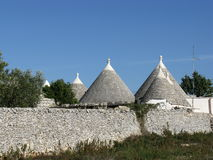 Trulli buildings originally built without cement Royalty Free Stock Image