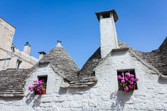 Trulli buildings of world heritage site, Alberobello, Italy Royalty Free Stock Image