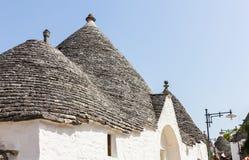 Trulli buildings of world heritage site, Alberobello, Italy Stock Photo