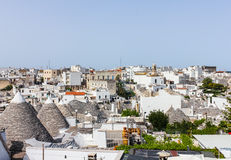Trulli buildings of world heritage site, Alberobello, Italy Royalty Free Stock Photography