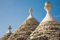 Trulli conical house roof Royalty Free Stock Photos