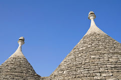 Trulli. Conical roofs. Alberobello. Apulia. Stock Photography