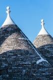 Trulli-Dächer in Alberobello, Italien Lizenzfreie Stockbilder