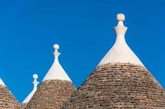 Trulli Dach und blauer Himmel Lizenzfreies Stockbild