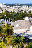 Trulli dachy w Alberobello, Włochy Obraz Royalty Free