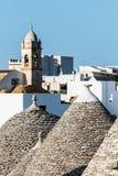 Trulli dachy w Alberobello, Włochy Obrazy Stock