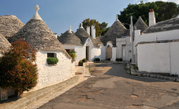 Trulli dans Alberabello Photo libre de droits