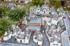 Trulli di Alberobello in miniature Stock Images