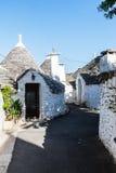 Trulli domy w Alberobello, Włochy Fotografia Stock