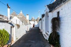 Trulli domy w Alberobello, Włochy Fotografia Royalty Free