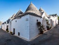 Trulli domy w Alberobello, Włochy Zdjęcia Royalty Free