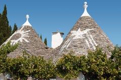 Trulli Häuser in Alberobello Stockfoto