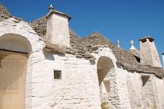 Trulli Häuser in Alberobello Lizenzfreie Stockbilder