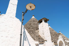 Trulli Häuser in Alberobello, Apulia, Italien. Lizenzfreie Stockbilder