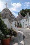 Trulli Häuser in Alberobello, Italien Lizenzfreie Stockfotografie
