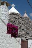 Trulli Häuser in Alberobello, Italien Lizenzfreie Stockfotos