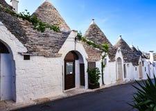 Trulli-Häuser in Alberobello, Italien Lizenzfreies Stockfoto