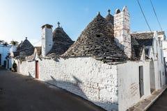 Trulli-Häuser in Alberobello, Italien Lizenzfreie Stockbilder