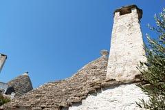 Trulli-Häuser in Alberobello, Italien Stockfotografie
