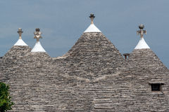 Trulli house roofs Royalty Free Stock Image