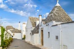 The Trulli houses of Alberobello in Apulia in Italy Stock Photos