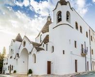 The Trulli houses of Alberobello in Apulia in Italy Stock Photo