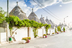 The Trulli houses of Alberobello in Apulia in Italy Stock Image