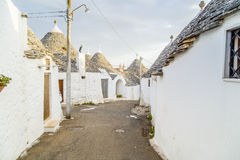 The Trulli houses of Alberobello in Apulia in Italy. The Trulli of Alberobello in Apulia in Italy. These typical houses with dry stone walls and conical roofs Stock Photography