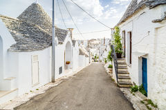 The Trulli houses of Alberobello in Apulia in Italy Royalty Free Stock Photo