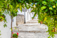 The Trulli houses of Alberobello in Apulia in Italy. The Trulli of Alberobello in Apulia in Italy. These typical houses with dry stone walls and conical roofs Royalty Free Stock Photography