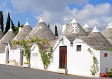 Trulli houses in Alberobello, Italy Royalty Free Stock Image