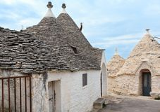 Trulli houses in Alberobello, Italy Royalty Free Stock Photos