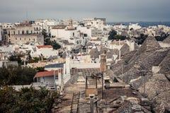 Trulli houses of Alberobello, Italy Royalty Free Stock Photos