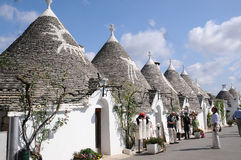 Trulli  houses in Alberobello Royalty Free Stock Photos