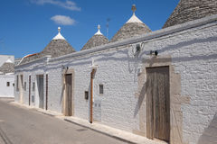 Trulli houses in Alberobello. View of Trulli houses in Alberobello, Italy royalty free stock photography