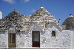 Trulli houses in Alberobello. View of Trulli houses in Alberobello, Italy royalty free stock photo