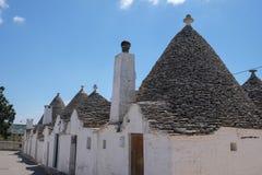Trulli houses in Alberobello. View of Trulli houses in Alberobello, Italy stock image