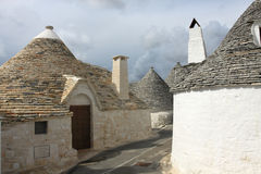 Trulli houses in town of Alberobello. In Puglia, Italy Stock Images
