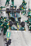Trulli pits for tires at the Malaysian F1 Royalty Free Stock Image