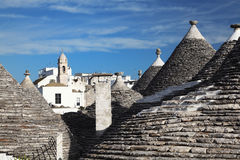 Trulli roof and blue sky Royalty Free Stock Image