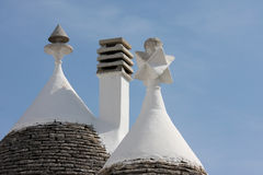Trulli roofs in Alberobello, Italy Royalty Free Stock Photography