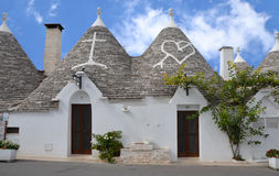 Trulli in the southern Italian town of Alberobello Royalty Free Stock Photo