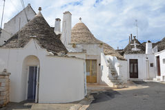 Trulli in the southern Italian town of Alberobello Royalty Free Stock Images