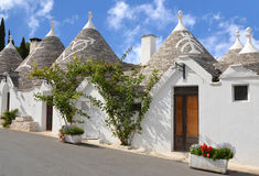 Trulli in the southern Italian town of Alberobello Royalty Free Stock Photography